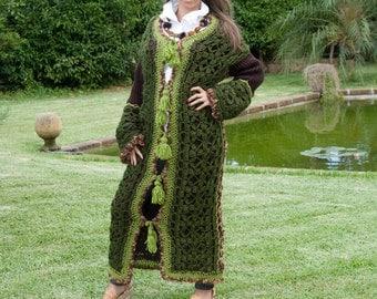 Full-Length Handmade Italian Wool Sweater