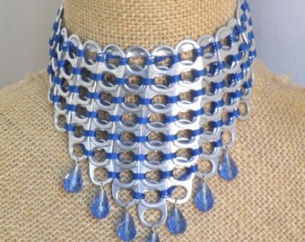 Recycled aluminum tabs necklace