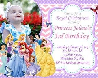 Disney Princess Invitation Birthday Party