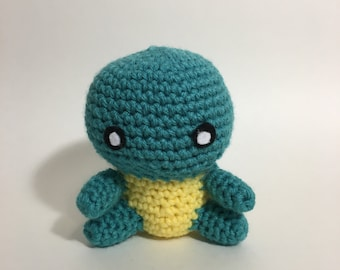 Squirtle Crochet Amigurumi Plushie