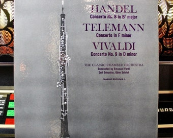 CLASSICAL RECORDS: The Classic Chamber Orchestra - Handel Concerto - Telemann Concerto - Vivaldi Concerto - RARE - Great Gift!