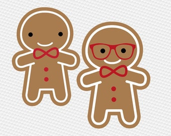 Gingerbread christmas glasses SVG Clipart Cut Files Silhouette Cameo Svg for Cricut and Vinyl File cutting Digital cuts file DXF Png Pdf Eps