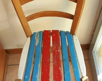 Colored wood Chair