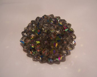 Signed Laguna Faceted Aurora Brooch