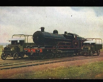 POSTCARD - L & N W R Four Cylinder Express Engine c1915 - Official Card - Steam Engine