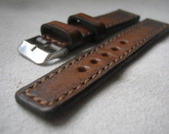 Watch strap, leather watch strap, brown strap, watch band, leather watch band, men's strap, woman's strap