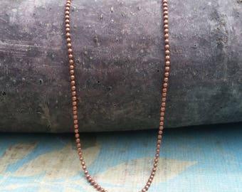 copper color ball chain for pendants