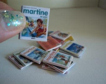"Miniature books ""Martine"", 1:12th scale"
