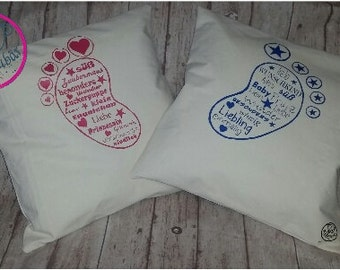 Cushion baby feet young or girl 40 x 40