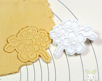 Cherry Blossoms Cookie Cutter and Stamp