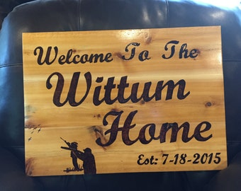 Personalized Welcome to our Home Sign