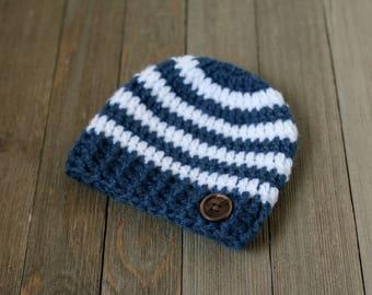 Newborn Crochet Hat, Baby Boy Hat, Newborn Photography Prop, Baby Photo Prop,Baby Crochet Beanie,Newborn Boy Crochet Hat,Photo Props Newborn