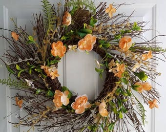 Coral Country Wreath