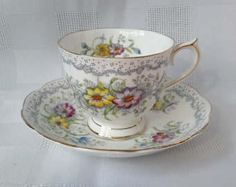 Royal Albert Gem Cup and Saucer Set, England, c.1950