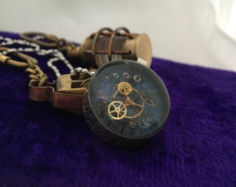Steampunk Necklace Watch Parts Pendant Clockwork Necklace Resin