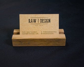 Recycled Hardwood Business Card Holder