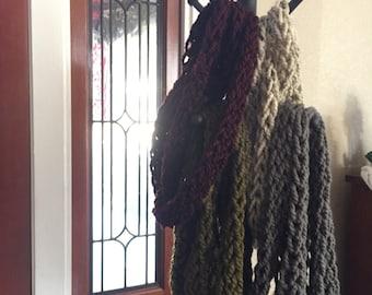 Cozy Wool Crochet Infinity Scarf