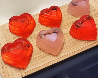 Key to my Heart Soaps, glycerin soap, soaps, heart soap, gifts for her
