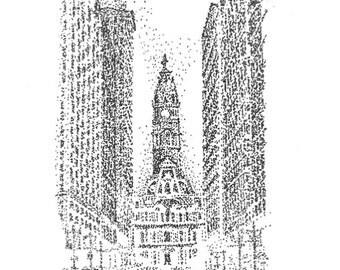 Winter City Hall Notecards