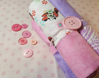 Four handmade cotton pillowcases