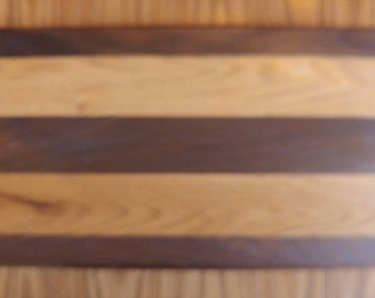 Oak and walnut hand made cutting board