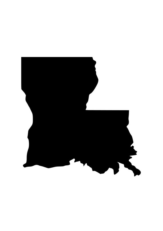 State of LA Louisiana outline laptop cup decal SVG Digital