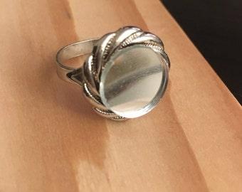 Silver Swirl Mirror Ring