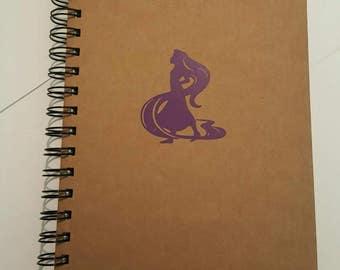 A5 kraft Rapunzel lined notebook