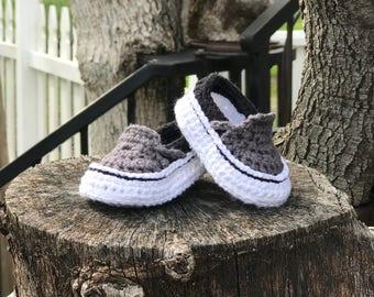 Crochet Baby Vans Handmade Shoe Slipper
