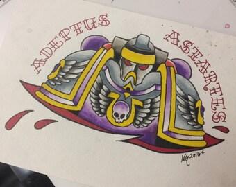 Adeptus Astartes ~ Space Marine ~ 6x8.5in Print