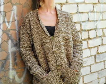 Knitted warm jacket
