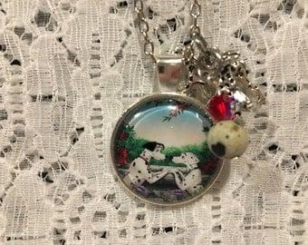 101 Dalmations Charm Pendant Necklace