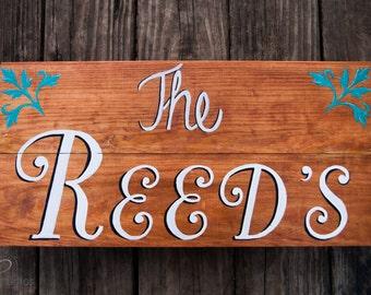 Wood art name signs
