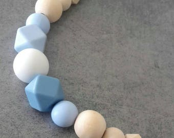 Breastfeeding or tender blue portage necklace