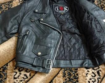 Vintage  IK Leather Black XS