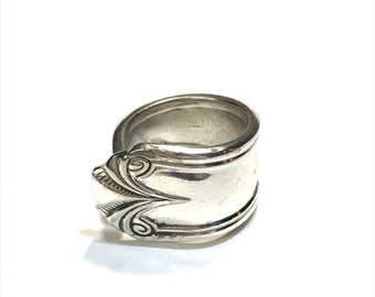 Antique/Vintage 1931 Lady Jane Silver Plate Ring