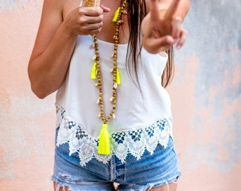 BORA BORA yellow necklace