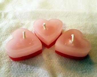 Two-Tone Heart Candles
