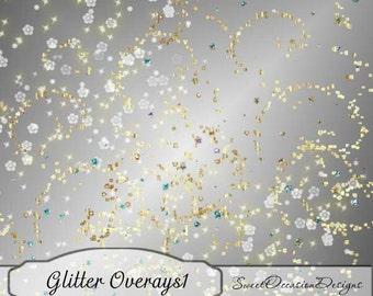 Glitter Overlays Element Pack Scrapbook, Card Making Elements