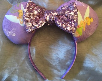 Tinkerbell Inspired! Minnie Ears! Handmade Sewn & Stuffed- Fits Child to Adult