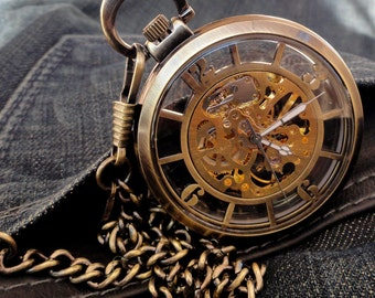 Orion Bronze pocket watch