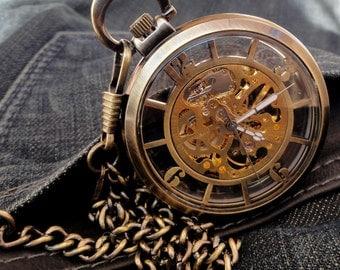 Orion Bronze pocket watch