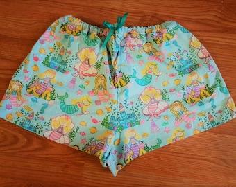 Mermaid Print PJ Shorts