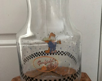 Glass Garfield Juice Pitcher With Top