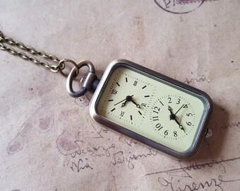 Double Pocket Watch ~ bronze ~.