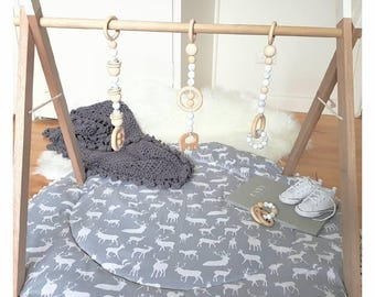 Wooden Baby Play Gym/ Frame Only
