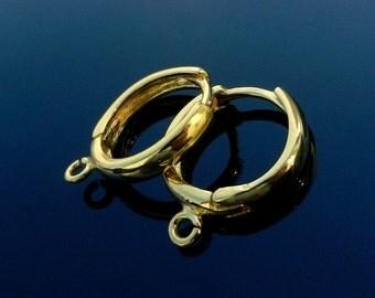 Vermeil 24k. Gold Over Sterling Silver Earring Lever Back Ear Hooks Wires