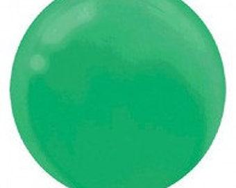 Jumbo  Round 60cm Balloon Festive Green Single or 4 pack