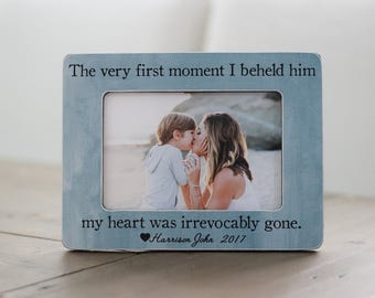 Gift for Mom of Little Boy Son, Gift for Wife on Mother's Day, Mother Son Frame, Personalized Quote Frame