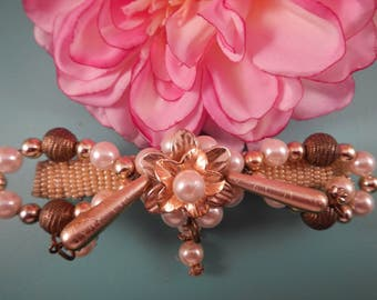 "4"" Antique Flower Barrette"